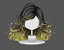 金蛍の風舞髪